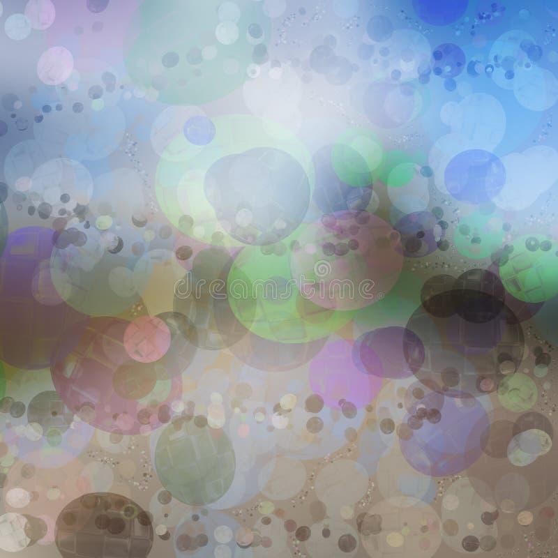 Idébakgrund av mångfärgade livliga bubblaskuggor arkivfoto