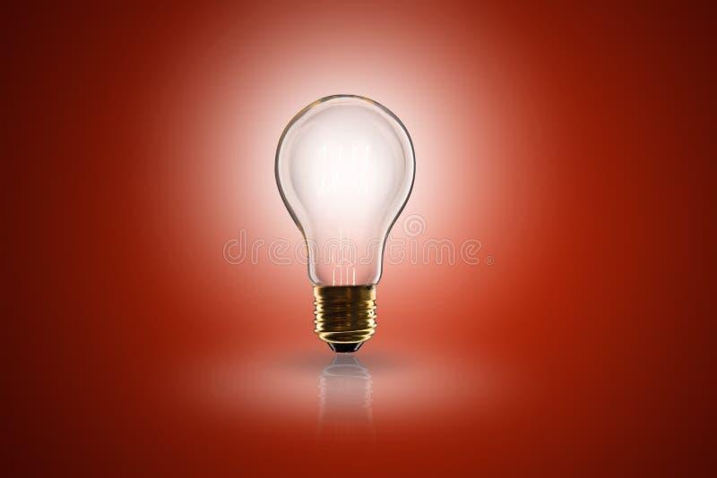 Idébegrepp - ljus kula på färgbakgrunden arkivfoto