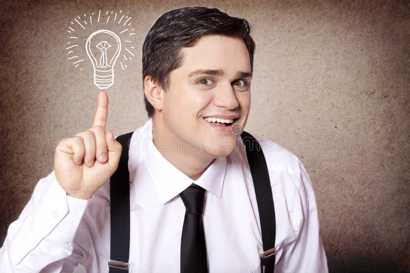 Idée américaine d'exposition d'homme d'affaires. images stock
