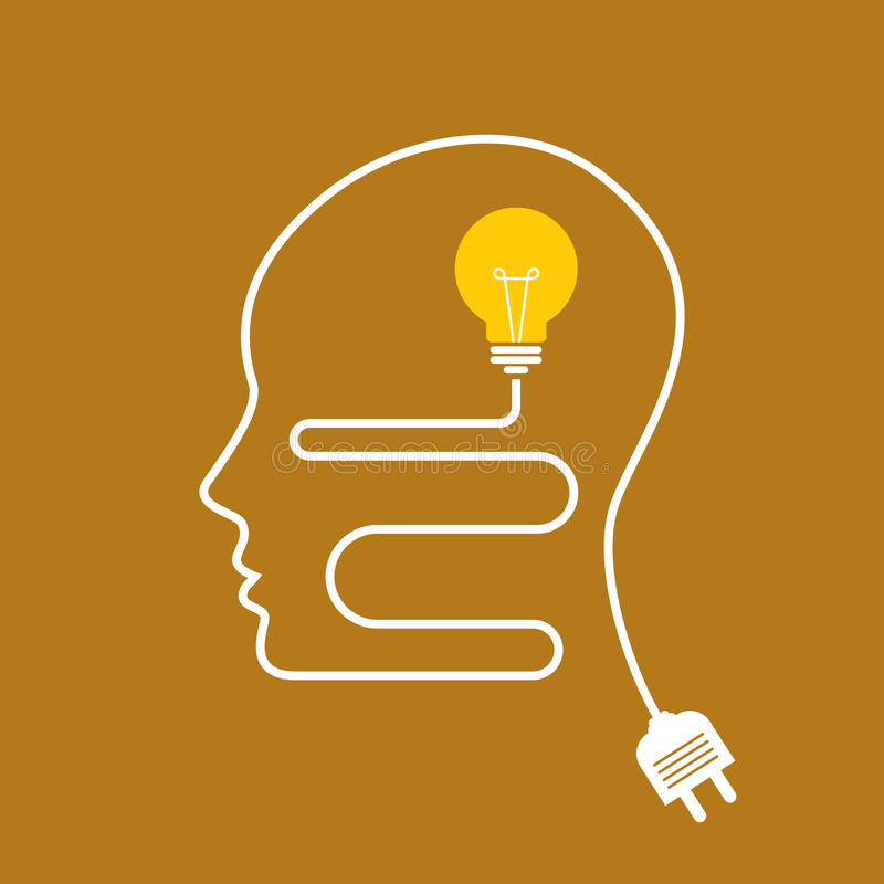 Idée avec le vecteur d'esprit humain illustration de vecteur