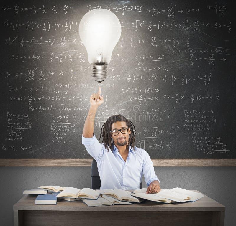Idée brillante de professeur images libres de droits