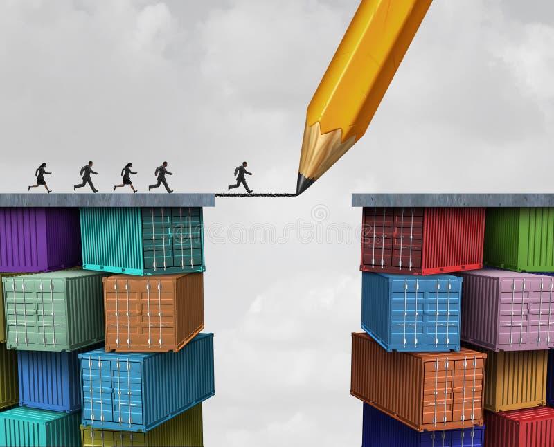 Idée commerciale globale illustration de vecteur