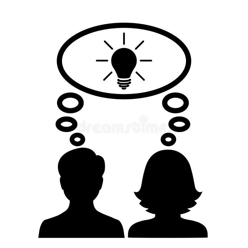 Idée commune, équipe, association - vecteur illustration stock