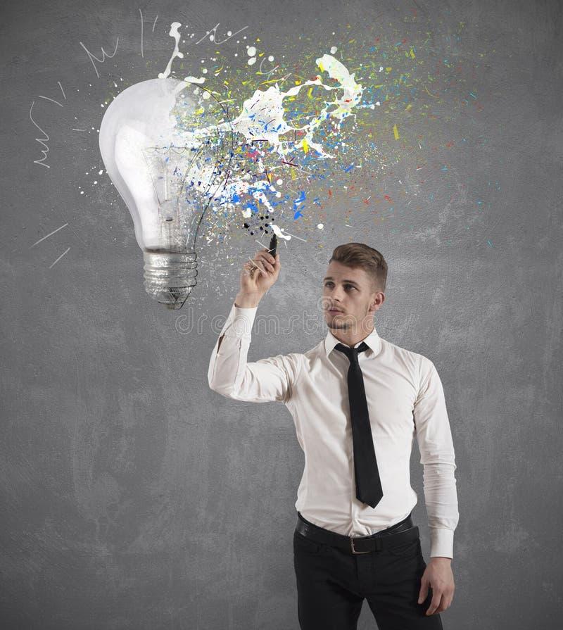 Idée créative d'affaires photo libre de droits