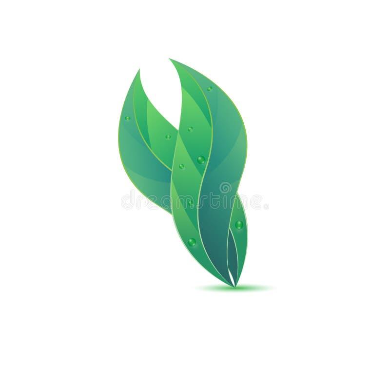 idée créative de conception de logo de la feuille 3d illustration stock