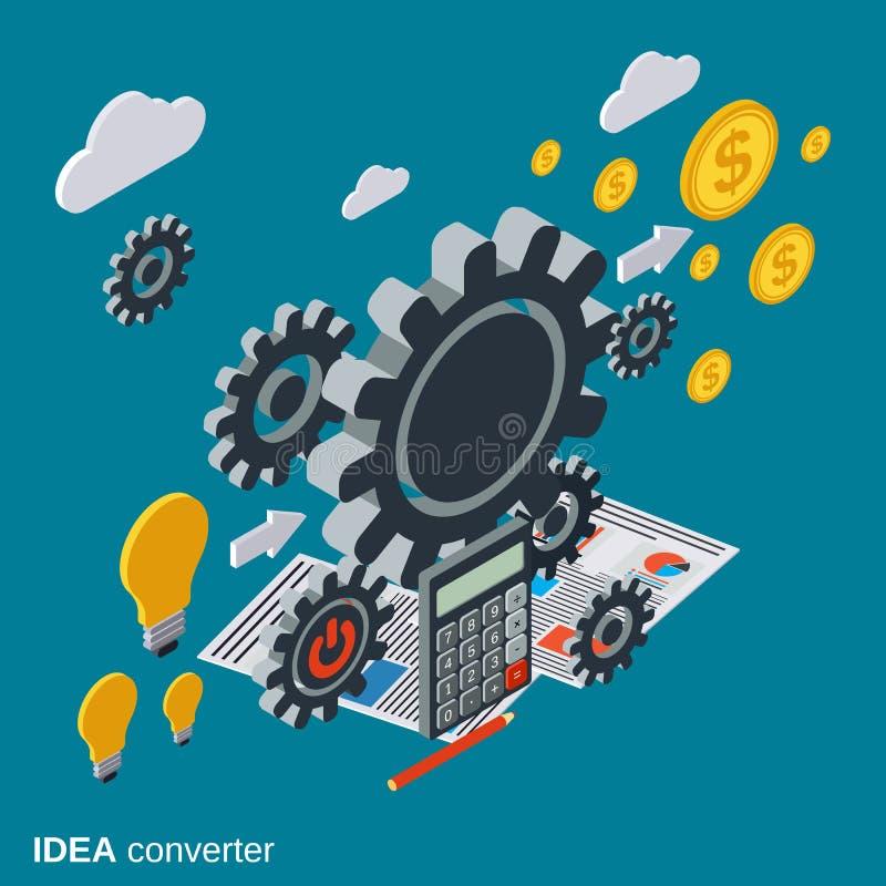 Idée créative, générateur d'idée, concept de vecteur d'innovation illustration stock