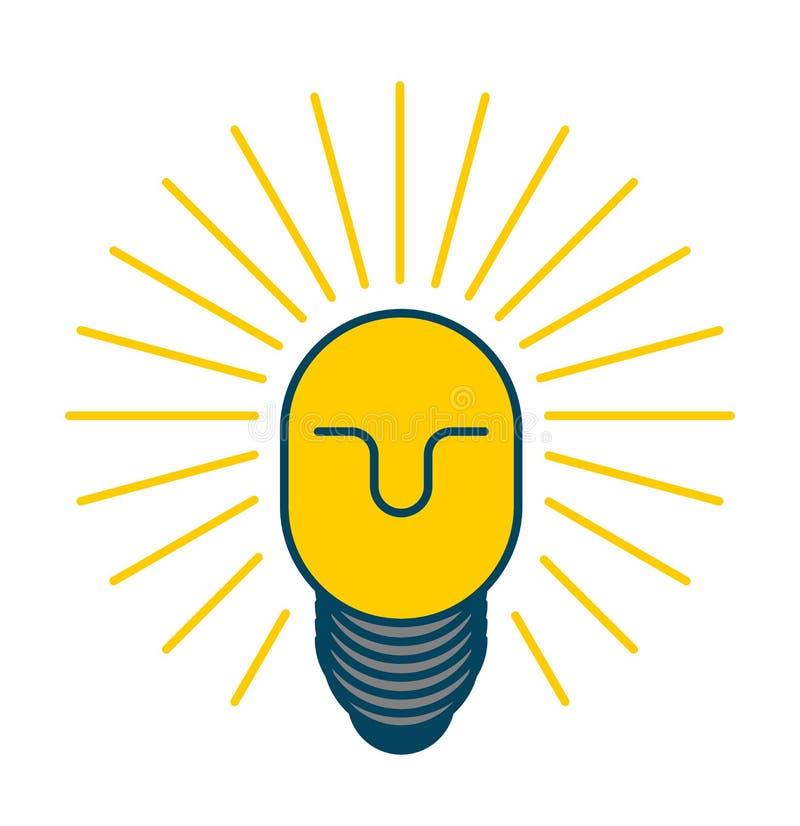 idée créatrice Bossage intelligent homme avec l'ampoule dans sa tête prison illustration de vecteur