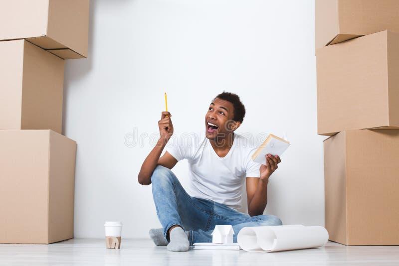 Idée déménager photos stock