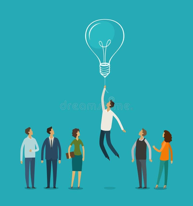 Idée d'affaires, concept Carrière, succès, motivation, illustration de vecteur d'avancement illustration de vecteur