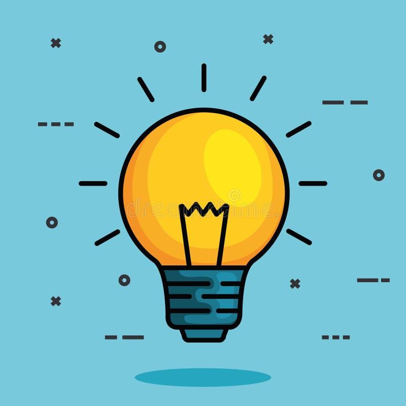 Idée d'ampoule à l'intelligence mentale de santé illustration de vecteur