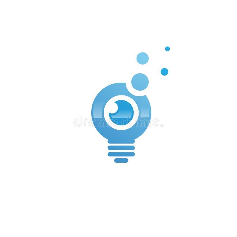 Idée d'ampoule avec le calibre d'oeil illustration de vecteur