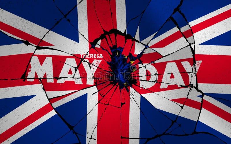 Idée d'illustration pour le Royaume-Uni désuni et divisé par affaire cassée de Brexit illustration libre de droits