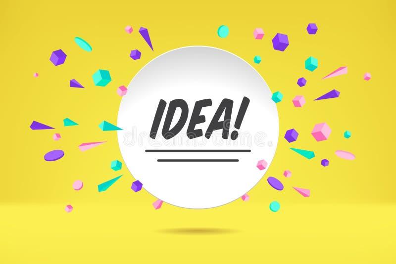 Idée de bannière Affiche, bulle de la parole et style géométrique de concept d'autocollant avec l'idée des textes Entretien de nu illustration stock