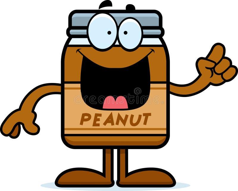 Idée de beurre d'arachide de bande dessinée illustration libre de droits