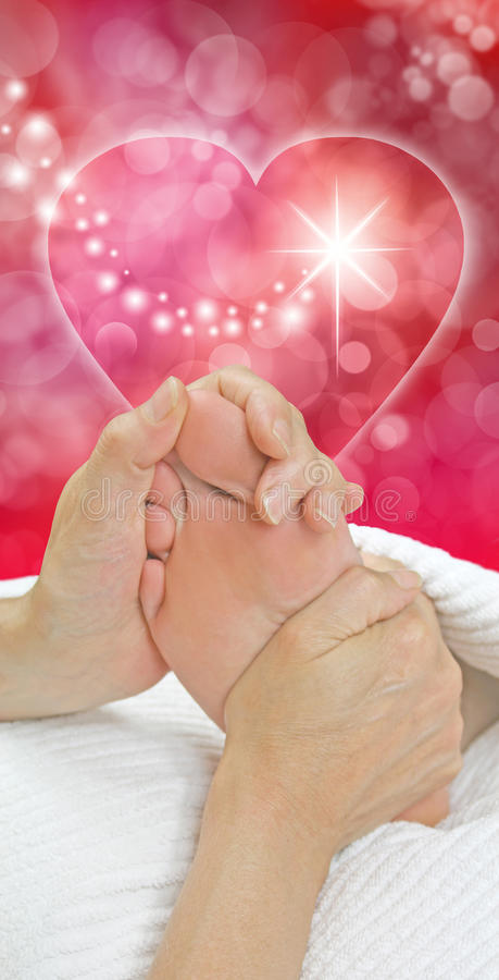 Idée de cadeau de Noël de massage de pied photo stock