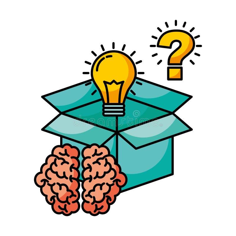 Idée de créativité de cerveau illustration de vecteur