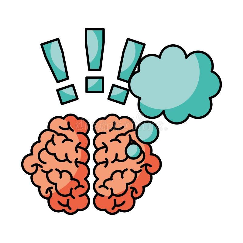 Idée de créativité de cerveau illustration stock