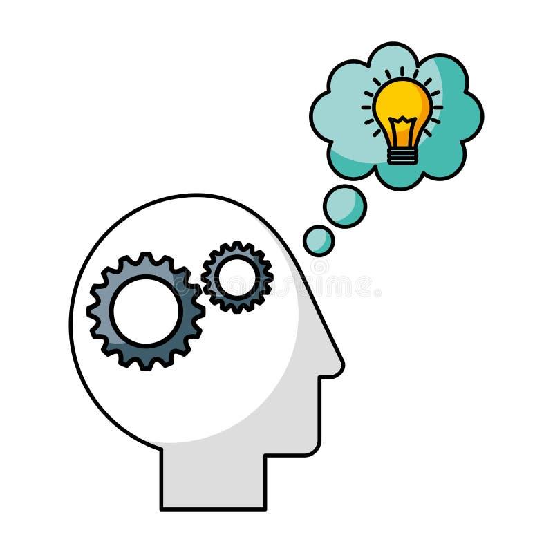 Idée de créativité de cerveau illustration libre de droits