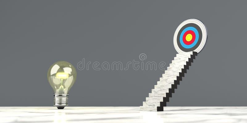 Idée de but d'escalier illustration stock
