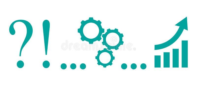 Idée de générateur, de problème au succès - vecteur courant illustration libre de droits
