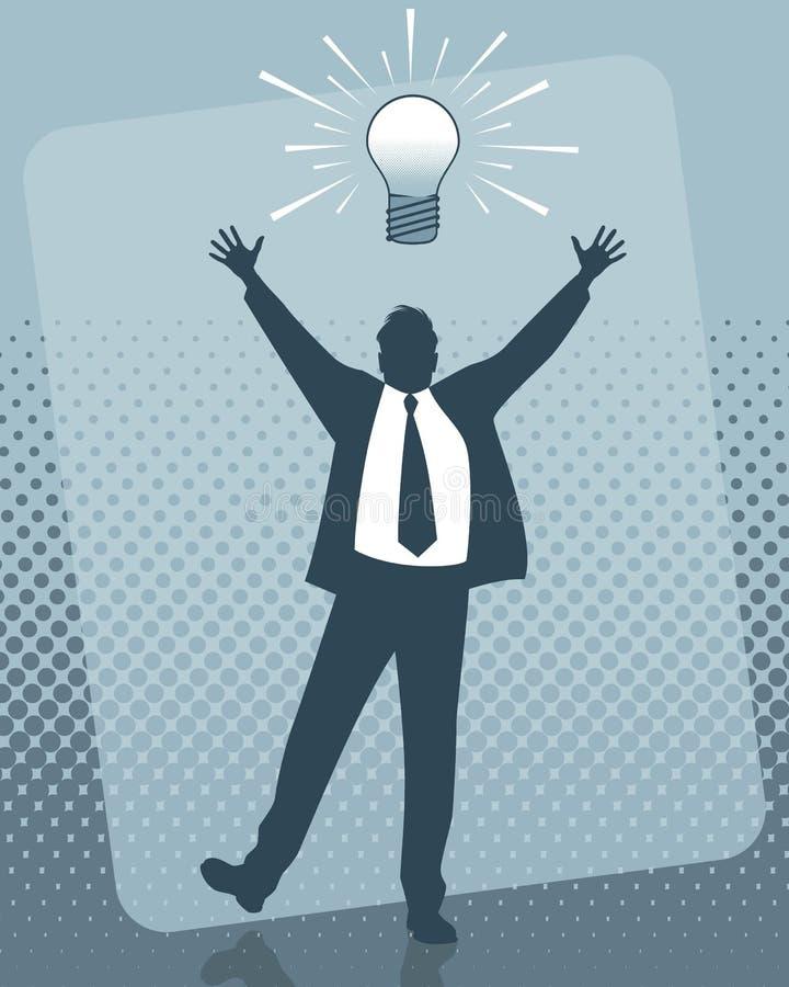 Idée de l'homme d'affaires illustration libre de droits