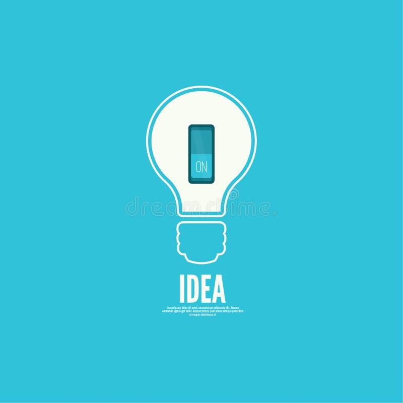 Idée de lumière d'ampoule avec le commutateur illustration libre de droits