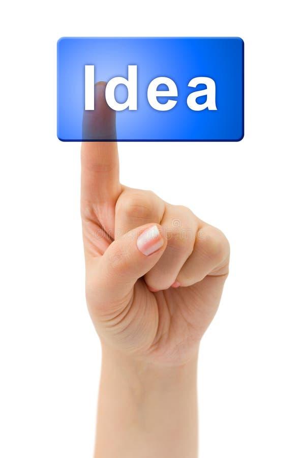 Idée de main et de bouton photos stock