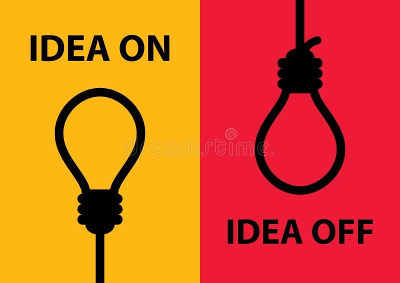 Idée en marche et en arrêt illustration de vecteur