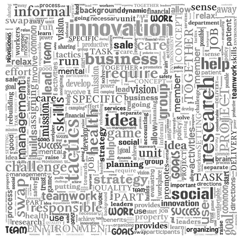 Idée et concept d'affaires en nuage de tags de mot illustration de vecteur