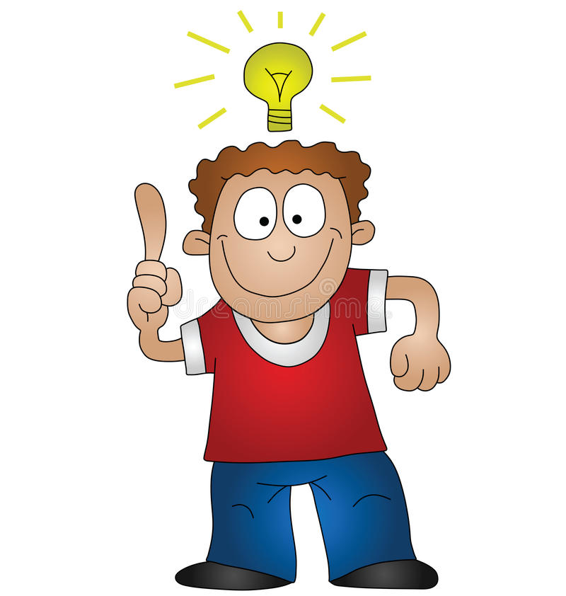 Idée lumineuse illustration libre de droits