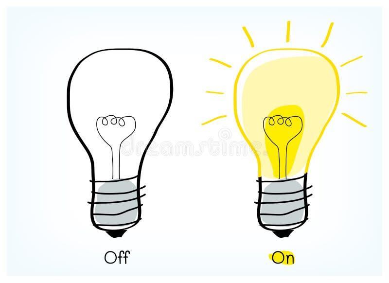 Idée marche-arrêt d'ampoule illustration stock