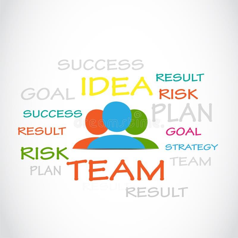 Idée, plan, risque, succès illustration stock