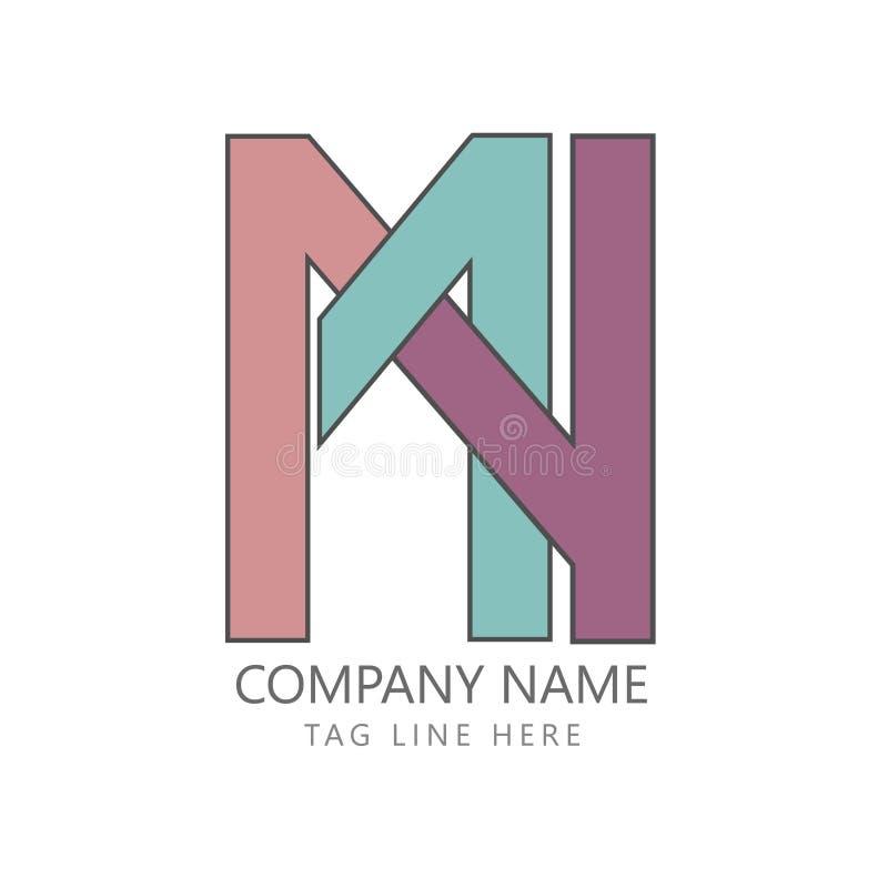 Idée plate de minimalisme de concept de logo d'affaires illustration de vecteur