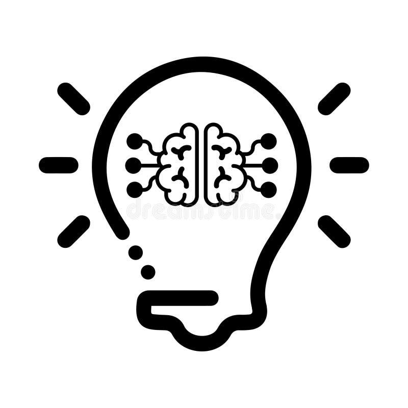 Idée produisant de l'icône, icône futée d'idée, générateur d'idée illustration libre de droits