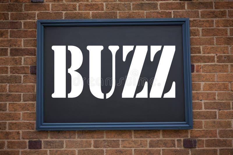 Idéer för handskrift textinspiration som visar tillkännagivande Buzz Affärskoncept för Buzz Word-förklaring royaltyfria bilder
