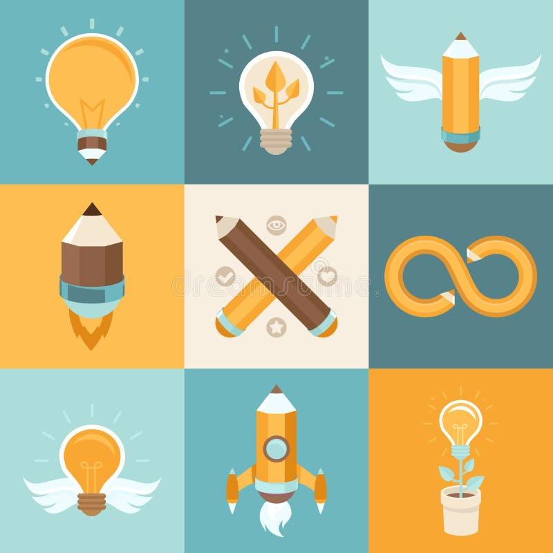 Idées créatives de vecteur illustration stock