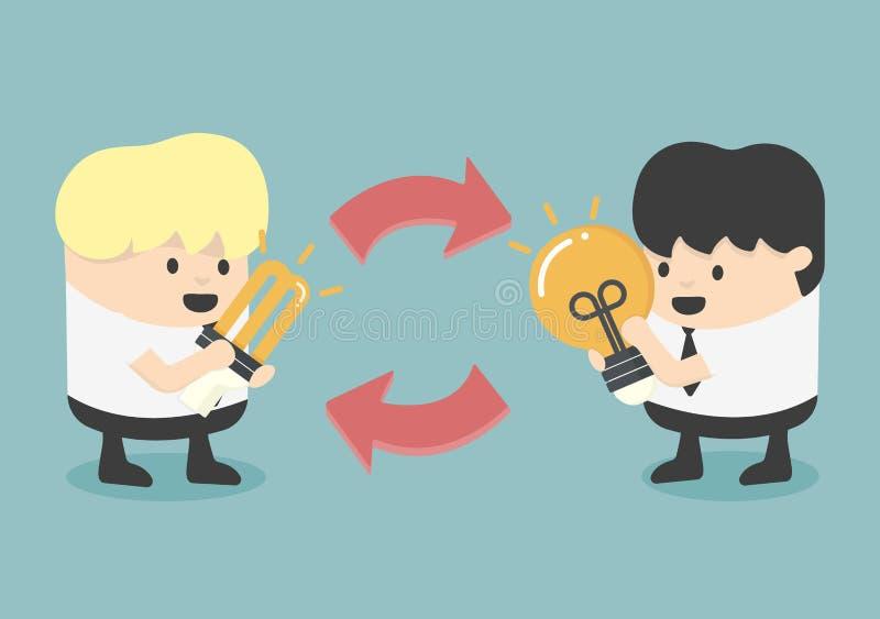 Idées d'échange illustration libre de droits
