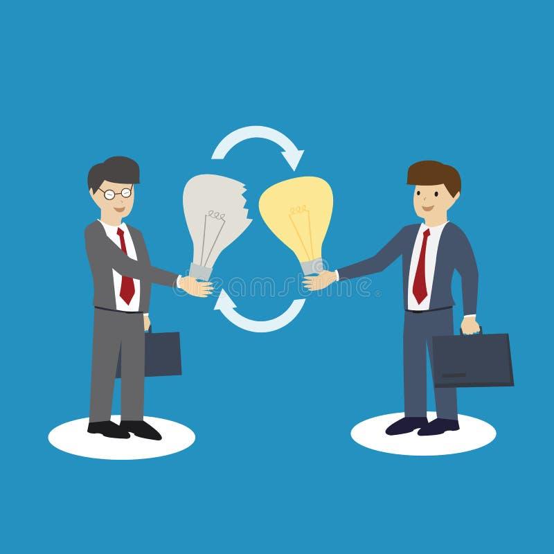 Idées d'échange d'hommes d'affaires Échange du concept illustration libre de droits