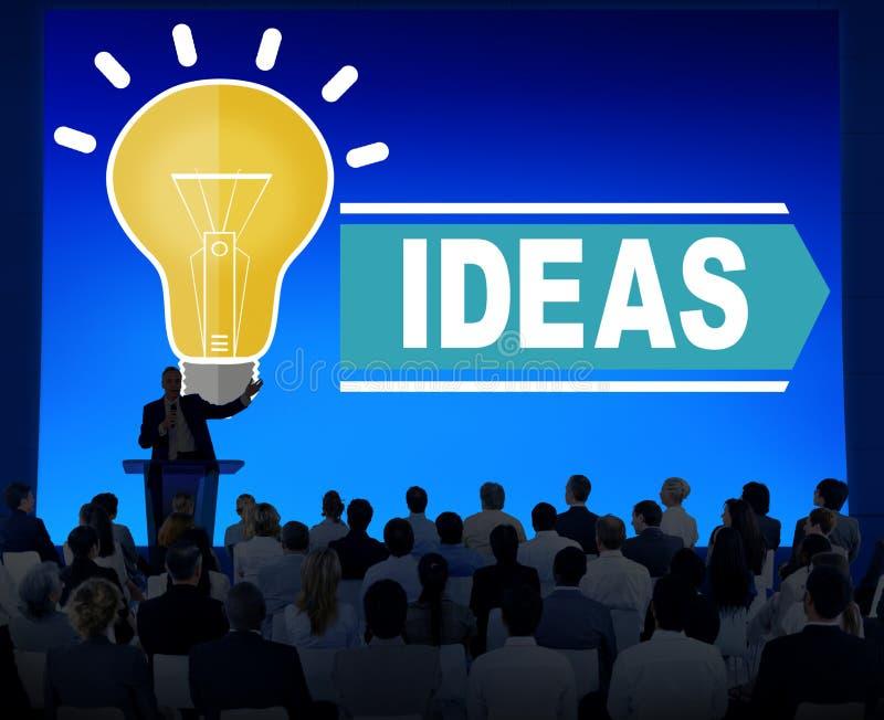 Idées d'aspirations pensant le concept de stratégie de vision d'innovation illustration libre de droits