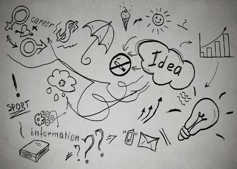 Idées de réussir à la vie personnelle et à la carrière professionnelle illustration stock