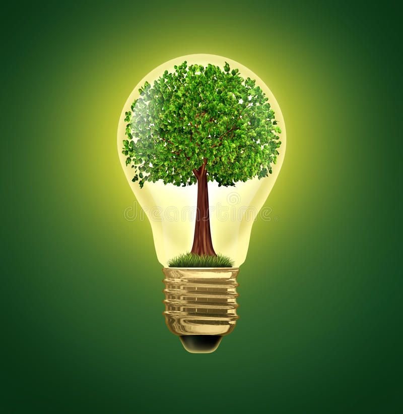 Idées environnementales illustration stock