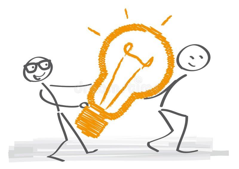 Idées et travail d'équipe illustration libre de droits
