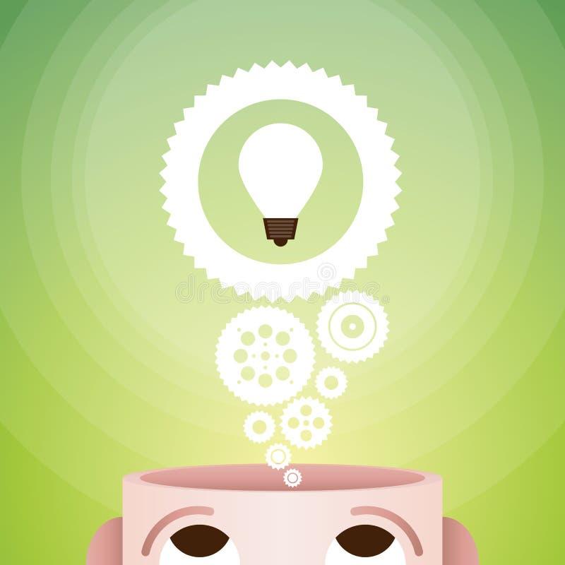 Idées innovatrices illustration libre de droits