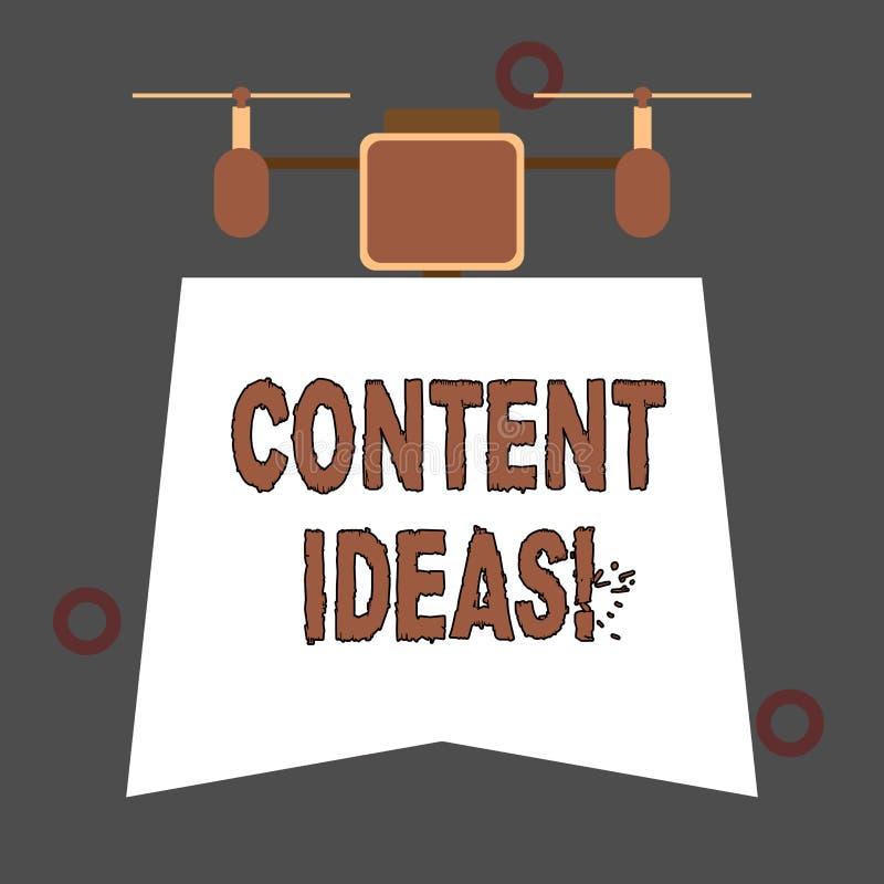 Idées satisfaites des textes d'écriture Concept signifiant la pens?e ou l'opinion formul?e pour la campagne satisfaite illustration libre de droits