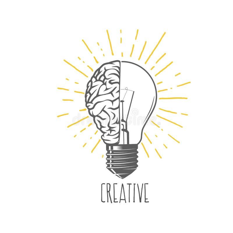 Idéia creativa ilustração stock