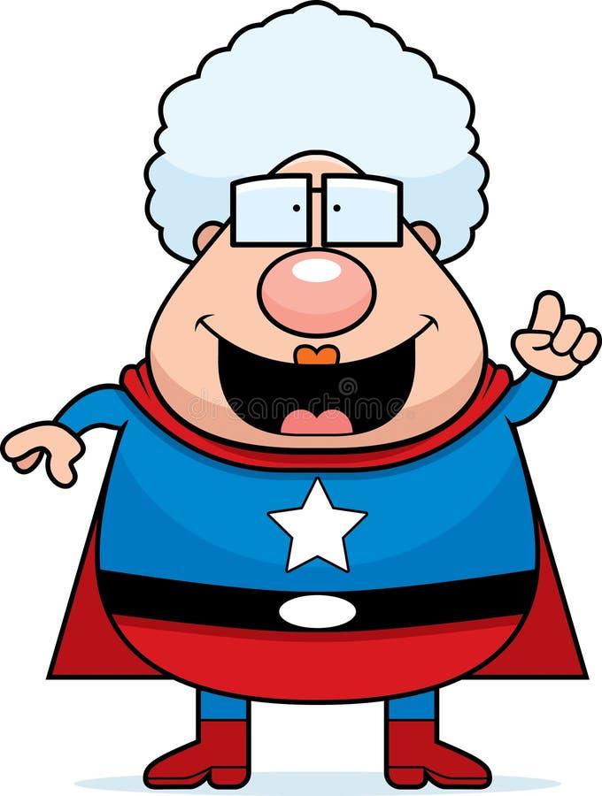 Idéia da avó do super-herói ilustração stock