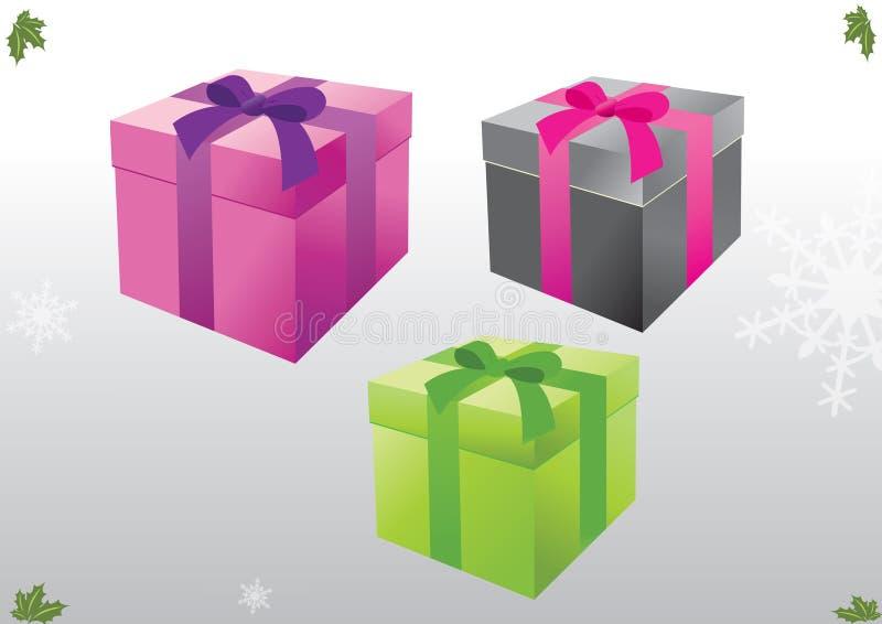 Idéia da caixa de presente do Natal ilustração do vetor
