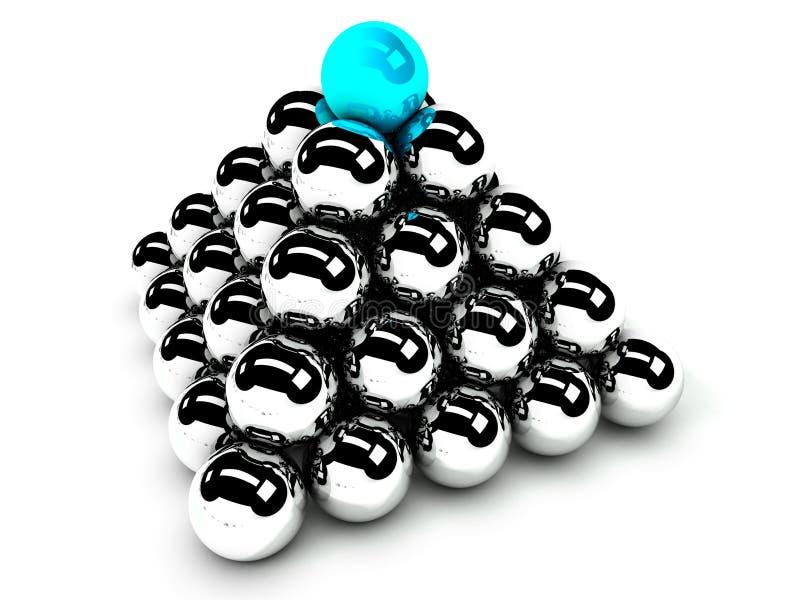 Idéia da hierarquia e da gerência, uma comunicação ilustração do vetor