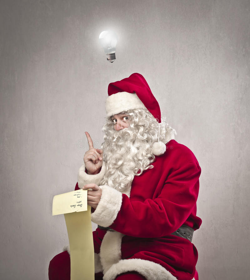 Idéia de Papai Noel foto de stock royalty free