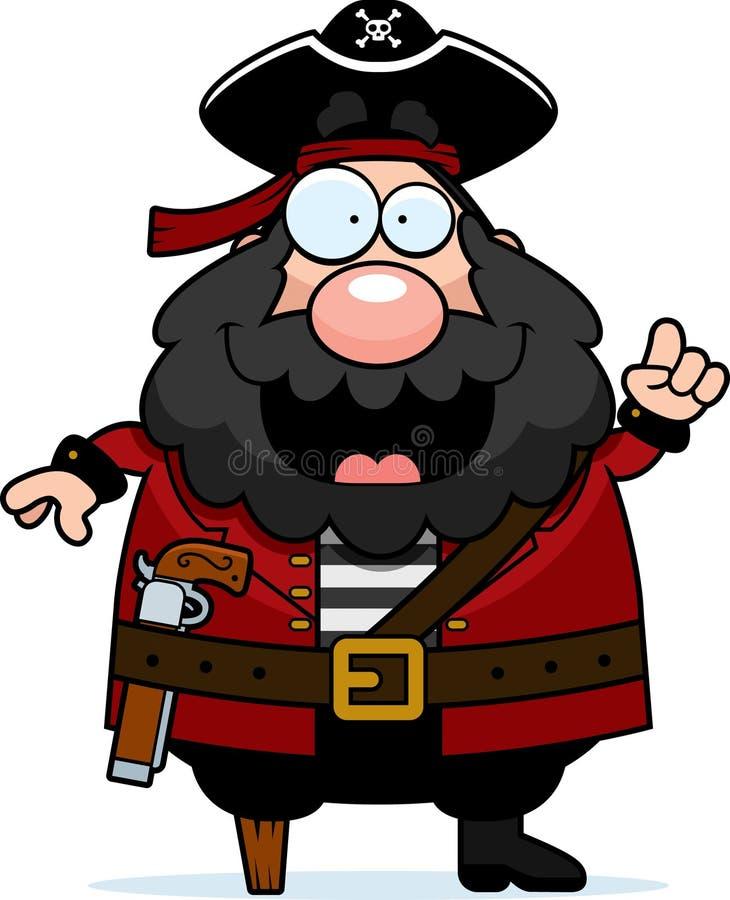 Idéia do pirata ilustração royalty free